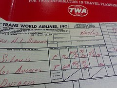 old airline ticket
