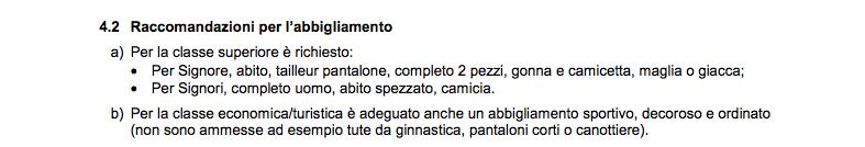 abbigliamento Alitalia